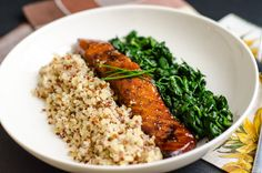 Brown Sugar Salmon by dianeabroad: You can personalize this with your favorite flavors like mustard, lemon or cumin or grill it on a cedar plank. Serve it with greens and quinoa and celebrate healthy you! This is gonna be tomorrow's dinner! Salmon Recipes, Fish Recipes, Seafood Recipes, Dinner Recipes, Cooking Recipes, Recipies, Cooking Food, Cooking Tips, Healthy Snacks