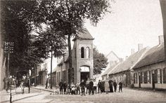 063 Korvelseweg 1900. Rechts Nieuwstraat.