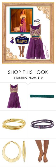 """Disney's: The Hunchback of Notre Dame"" by jennbell0709 ❤ liked on Polyvore featuring Disney, Notte by Marchesa, D.Exterior, Karen Kane, Zella, Ross-Simons and Chanel"