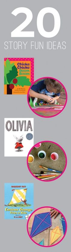 20 Great Stories and Fun Activities to go along with them craft-ideas