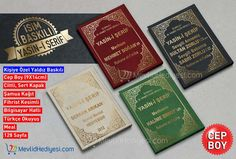 İsim Baskılı Özel Sert Kapak Ciltli Yasin Kitabı, Fihrist Kesimli, CEP BOY 1- Arapcası Bilgisayar Hatlı 2- Elmalı Hamdi Yazır Mealli 3- Arapça Türkçe Okunuşlu  ------- (100Adet için)-4TL -------(50Adetiçin)-5TL ------- www.mevlidhediyesi.com