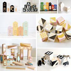 Beautiful blocks to make Wooden Baby Blocks, Wooden Baby Toys, Wood Toys, Making Wooden Toys, Bois Diy, Stacking Toys, Waldorf Toys, Montessori Toys, Building Toys