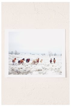 Shop Kevin Russ Winter Horses Art Print at Urban Outfitters today. We carry all the latest styles, colors and brands for you to choose from right here.