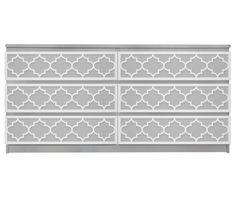 Jasmine O'verlays Kit for IKEA MALM (6 drawer)
