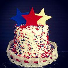 Independence Day themed Happy Birthday Smash Cake