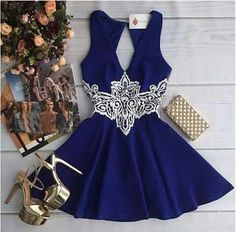 Navy Blue Homecoming Dress, Homecoming Gown,Party Dress,Prom Dresses,Ruffled