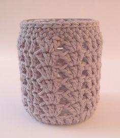 #mason jar cover #crochet #handmade #haken #diy