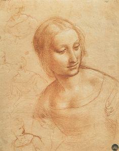 Bild: Leonardo da Vinci - Madonna mit der Spindel (Studie)