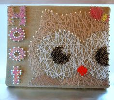 Owl String Art Personalized String Art by OrgaknitsbyBrielle, $25.00