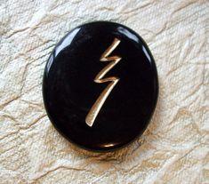 Reiki Stones - Raku grounding symbol - Pocket intention crystal – Cast a Stone