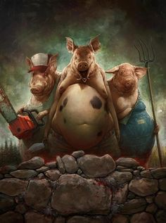 Three little pigs, the badass version