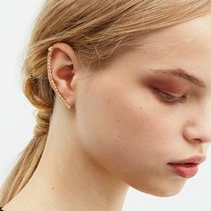 Joanna Laura Constantine(ジョアンナ ローラ コンスタンティン) 小粒 ジルコニア ライン イヤーカフ ピアス / ear cuff on shopStyle