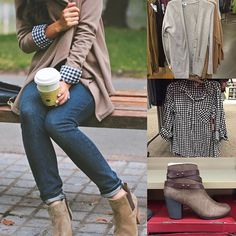 Looove this cozy fall look found on Pinterest of blogger @extrapetite…