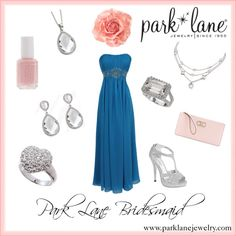 Park Lane Bridesmaid, created by parklanejewelry on Polyvore  Park Lane Jewelry featured: A-List necklace and earrings, Destiny ring, Striking ring, and Sweet necklace