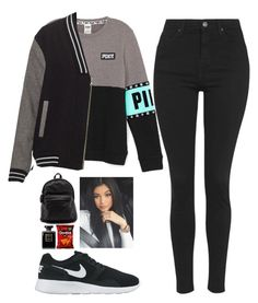 """""""Untitled #169"""" by barijeziberi ❤ liked on Polyvore featuring beauty, Topshop, NIKE and Chanel"""