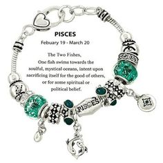 DianaL Boutique Zodiac Sign Pisces Horoscope Charm Bracelet Silver Tone Pandora Inspired Gift Boxed Fashion Jewelry  f you know someone who loves astrology, then why not consider getting them the perfect astrological gifts.  Unique gifts for astrology lovers are trendy right now because it is more of a personalized gift.  You can buy a gift based on zodiac sign and personality.  Here you will find great gift ideas for Pisces, Capricorn, Aries, Scorpio, Taurus, Virgo, Libra, Gemini…