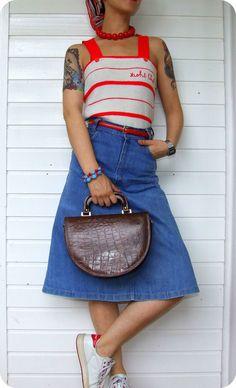 Vintage Leder Handtasche Schultertasche Tasche Kroko Leather Bag Sac Italy Boho in Kleidung & Accessoires, Damentaschen | eBay