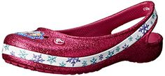 crocs Genna II Frozen Girls Slingback Flat (Toddler/Little Kid/Big Kid), Berry, 13 M US Little Kid: Molded croslite Sling back Girls Flats, Slingback Flats, Jimmy Choo Shoes, Shoe Storage, Big Kids, Crocs, Frozen, Stuff To Buy, Berry