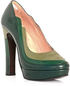 Robert Clergerie Lorna colour-block shoes on shopstyle.co.uk