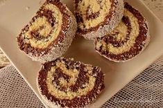 Rulada de biscuiti cu nuca de cocos - Dulciuri fel de fel Romanian Desserts, Something Sweet, Doughnut, Nutella, Biscuits, Muffin, Dessert Recipes, Food And Drink, Sweets