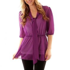 Plus Cinched Waist Sheer Tunic - Plus Size Fashions for $15 - Events