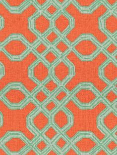 Lee Jofa Well Connected aqua/orange Lilly Pulitzer collection 75.50 Decorators Best