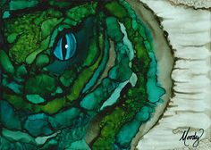 Alcohol inks on Yupo - by Monica Moody - monicamoody.com