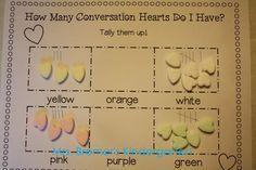 Conversation Hearts: tallying activity!