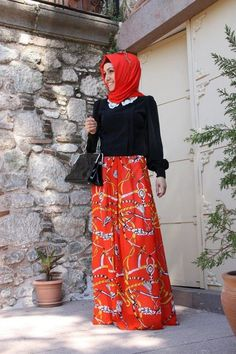 This is a perfect hijab evening wear