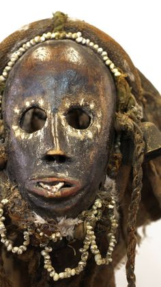 A beautiful and very rare miniature altar mask from the Dan people.