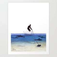 Parting Ways by Lars Furtwaengler   Colored Pencil   8 x 10 1/2   2013 Art Print by Lars Furtwaengler - $19.99