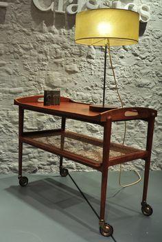 Marvelous Teewagen Barwagen Teak s Beistelltisch Tisch Tablett Rollwagen tea bar tray