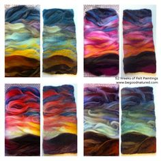 Good Natured: 52 Weeks of Felting. Wet felting - before and after