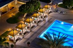 Doha Marriott Hotel's Cabanas and Outdoor Pool