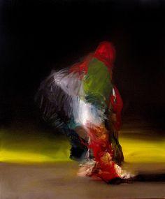 Untitled (2012) by Spanish painter Joseba Eskubi (b.1967). Oil on canvas, 65 x 24 cm. via Escape  Into Life