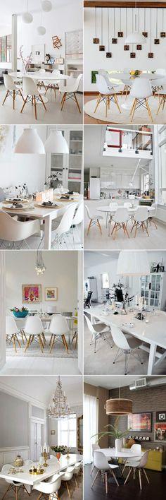 Ideias de sala de jantar com a cadeira Eames