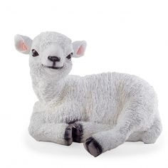 'Purl' The Large Laying Garden Lamb Ornament In Coloured Resin #garden #ornament #lamb