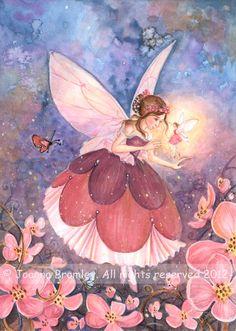 Plum Blossom the Sugar Plum Fairy Fantasy Girl, Fantasy Unicorn, Party Unicorn, Diy Unicorn, Sugar Plum Fairy, Beautiful Fairies, Fantasy Kunst, Flower Fairies, Fairy Art