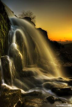 Sunset Spray by Shuggie!! ~ The Loup of Fintry, where the River Endrick pours over a spectacular 90' rock outcrop in three stages.**
