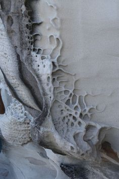 Weathered Rock Formation with natural textures, sculptural shapes & organic patterns; nature's artwork