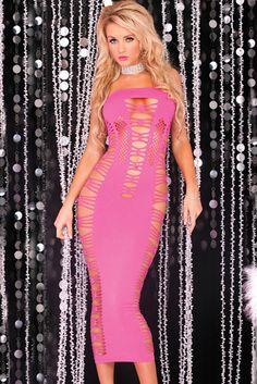 Big Spender Long Pink Tube Dress – Global Wholesale Brands Inc.