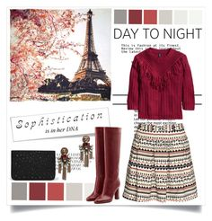 """""""Day to Night"""" by fashionscherry ❤ liked on Polyvore featuring Fay et Fille, H&M, Diane Von Furstenberg and MANGO"""