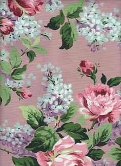*The Graphics Fairy LLC*: Vintage Lilac & Roses Wallpaper Graphic Floral Rosa, Motif Floral, Floral Fabric, Floral Prints, Vintage Rosen, Vintage Diy, Vintage Paper, Graphics Fairy, Rose Wallpaper
