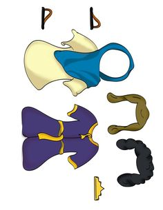 Bible Paper Dolls -Come in male & female versions, color or b