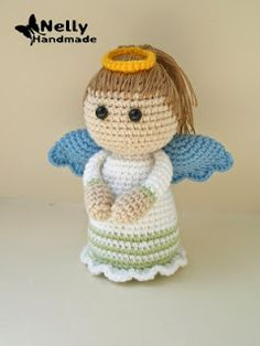 Amigurumi Angel - FREE Crochet Pattern / Tutorial ༺✿ƬⱤღ  https://www.pinterest.com/teretegui/✿༻