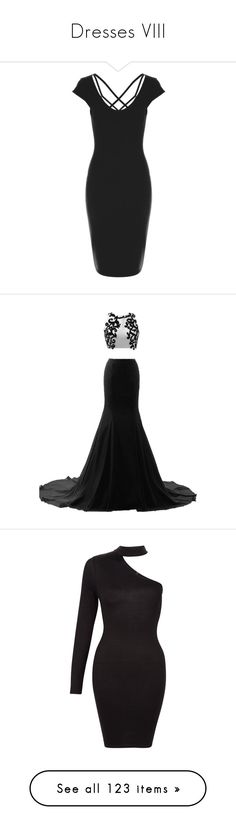 """""""Dresses VIII"""" by lucyheartyui on Polyvore featuring dresses, strap dress, strap bodycon dress, cross over dress, body conscious dress, short sleeve dress, gowns, long dresses, white prom dresses i long white evening dress"""