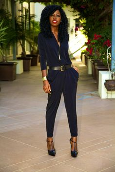 Belted jumpsuit... Love this look