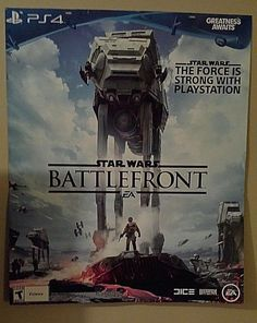 PROMOTIONAL STAR WARS BATTLEFRONT DOUBLE-SIDED GIANT POSTERBOARD
