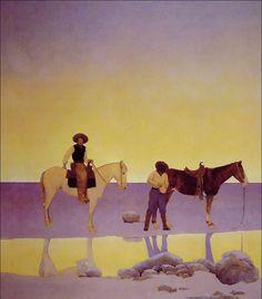 Cowboys' Hot Springs, Arizona, by Maxfield Parrish, 1902