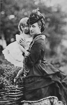 Alexandra, Princess of Wales and her daughter Princess Louise.